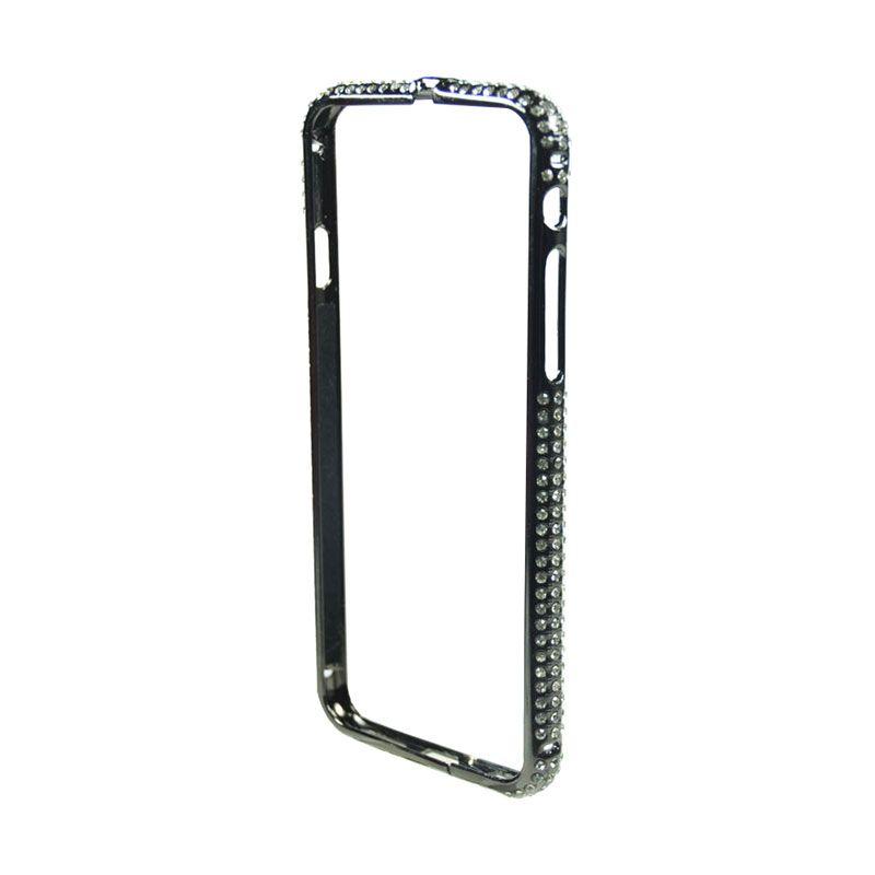 Fashion Diamond Protective Bumper for iPhone 6 Black