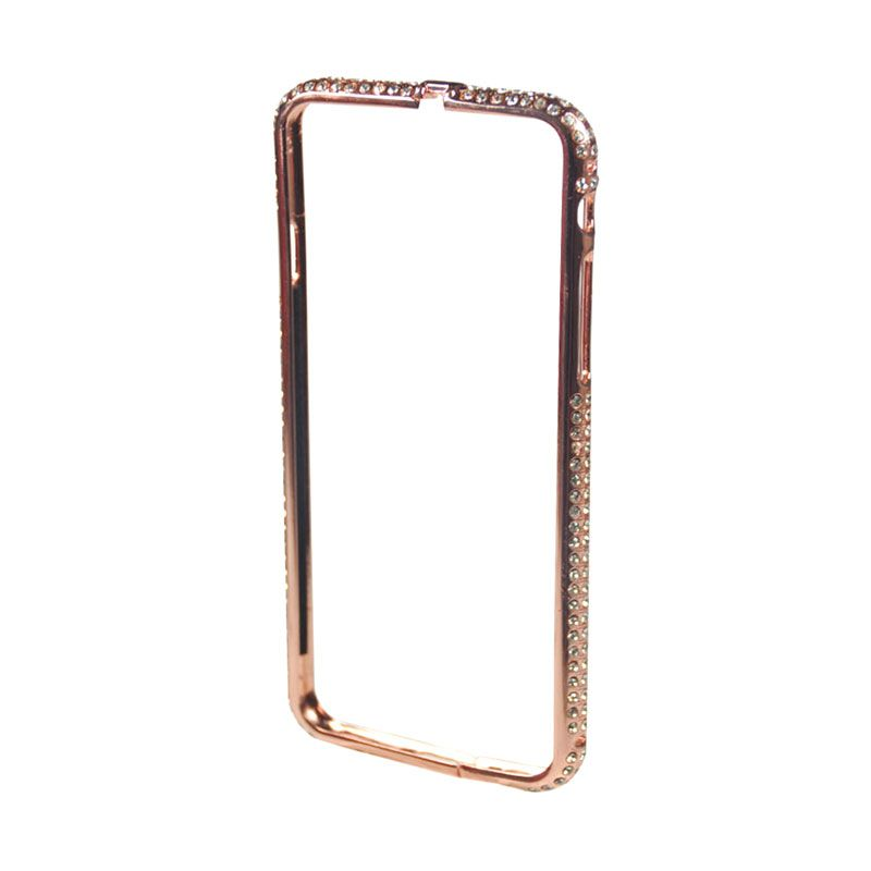 Fashion Diamond Protective Bumper for iPhone 6 Rose Gold