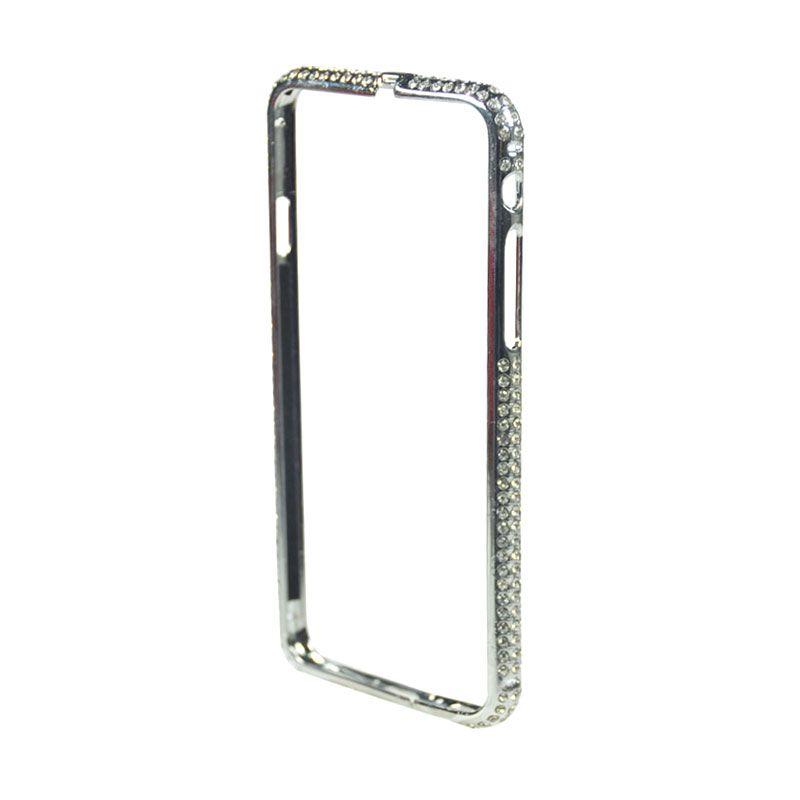Fashion Diamond Protective Bumper for iPhone 6 Silver