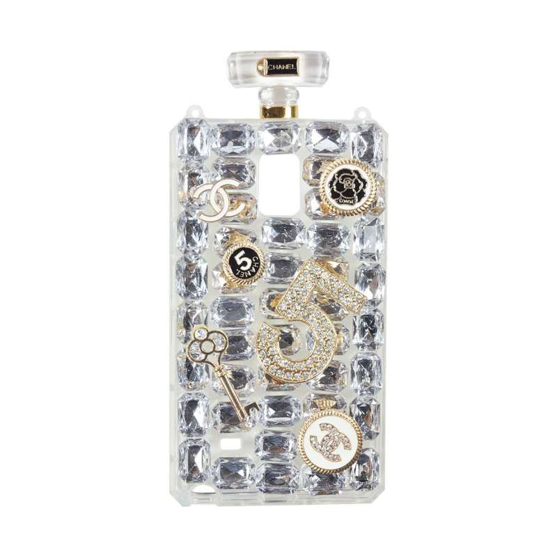 Fashion Chanel Perfume White Casing for Samsung Galaxy Note 4