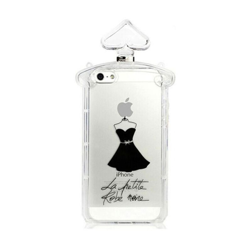 Fashion Guerlain Perfume TPU Case with chain for iPhone 5/5s White