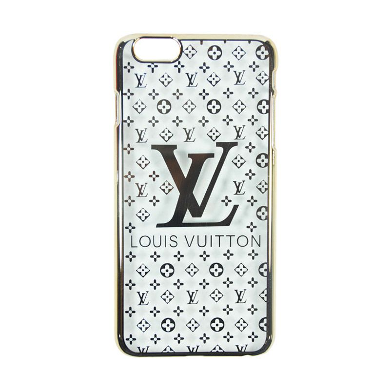 Fashion LV Elegant Slim Case for iPhone 6 Plus Gold Casing