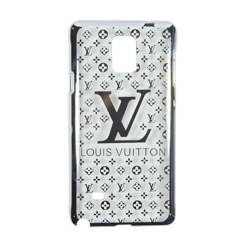 Fashion LV Elegant Silver Slim Casing for Samsung Galaxy Note 4