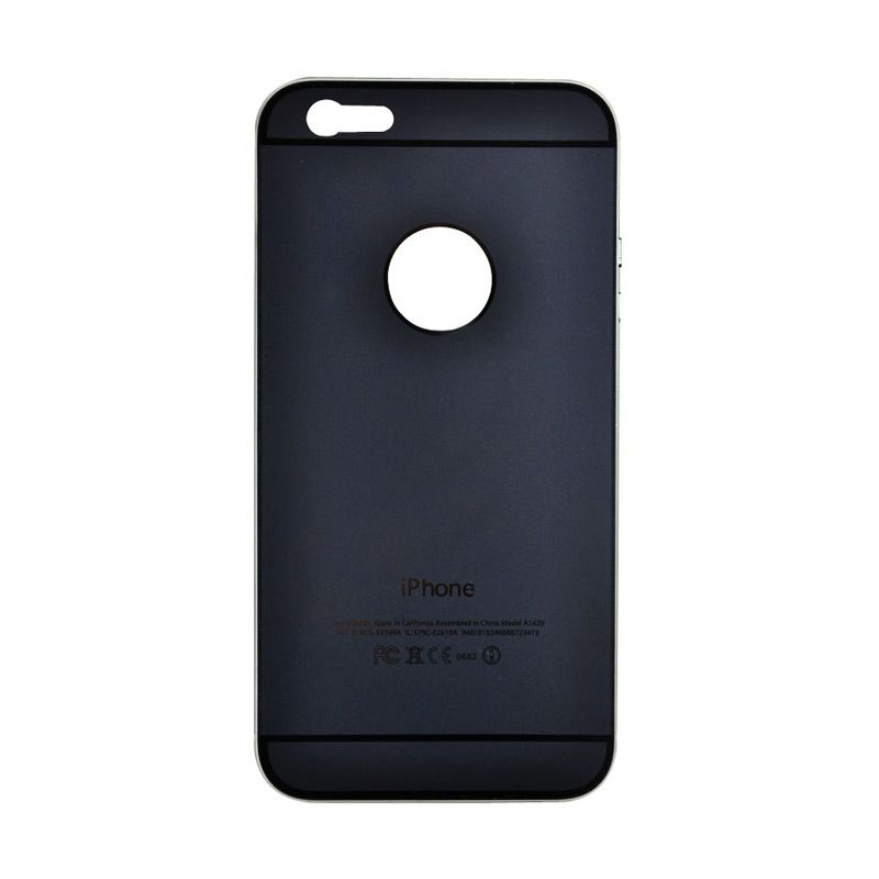Fashion Metal Back Cover for iPhone 6 Plus Hitam
