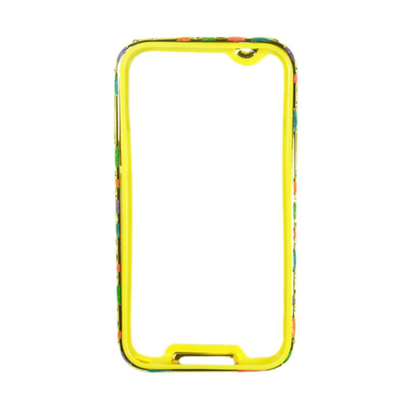 Fashion Metal Bumper For Samsung Galaxy Note 3 Gold Frame Colorful