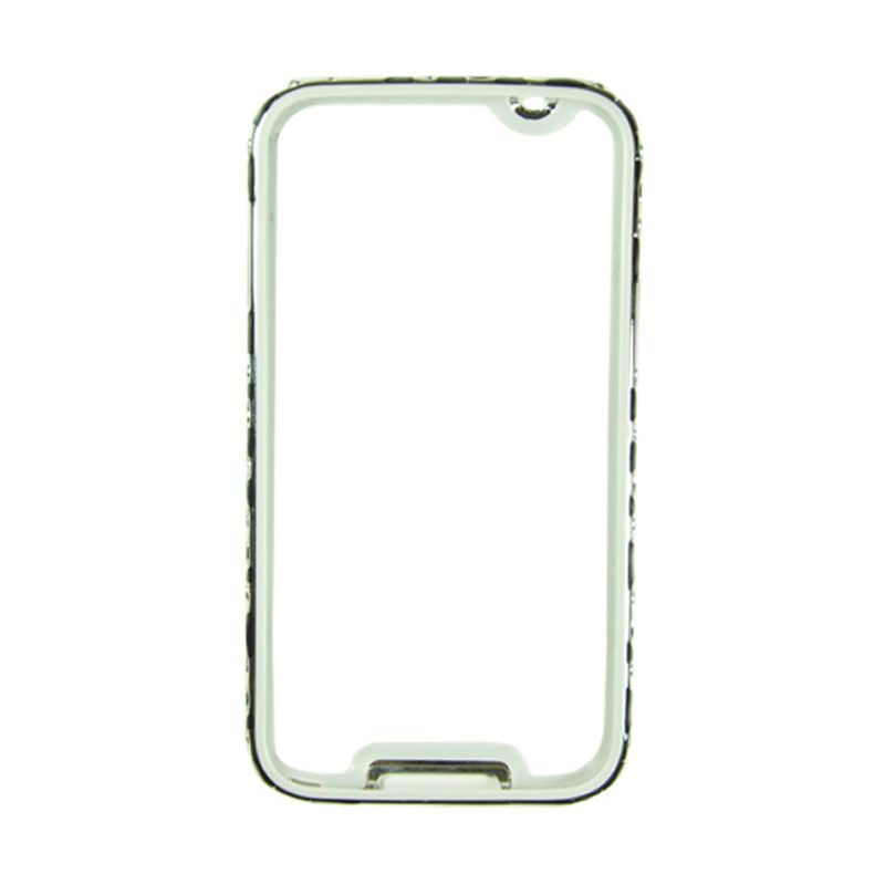 Fashion Metal Bumper For Samsung Galaxy S5 Silver Frame Hitam