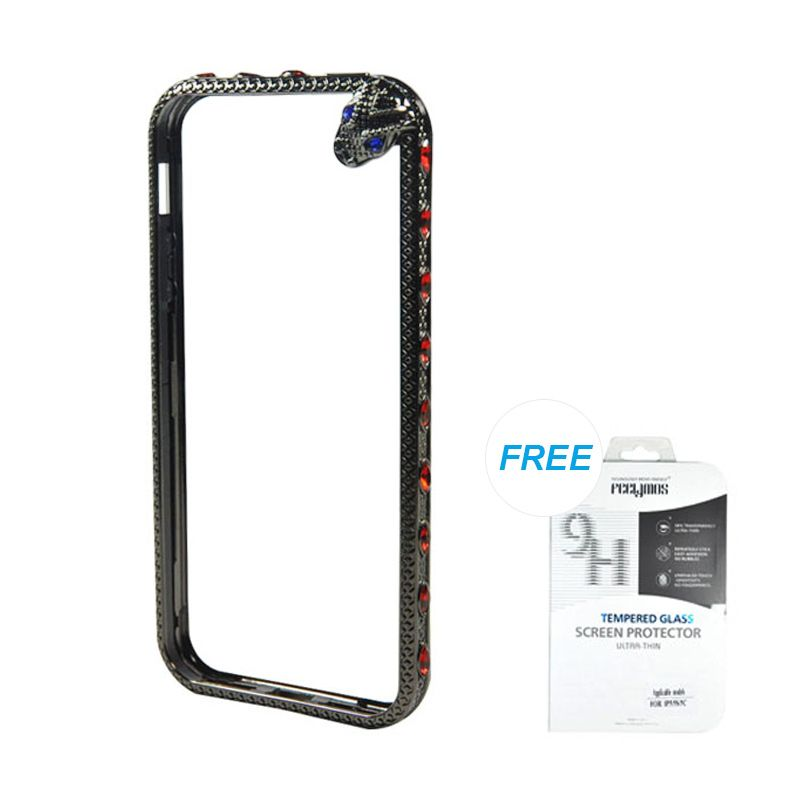 Fashion Snake Metal Bumper Black iPhone 5/5S Casing