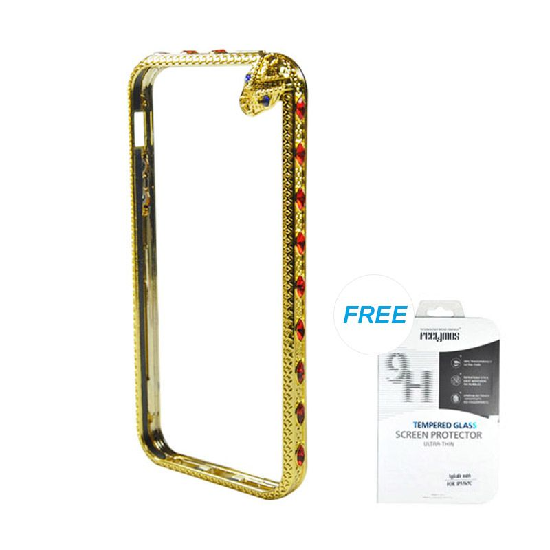 Fashion Snake Metal Bumper Gold iPhone 5/5S Casing