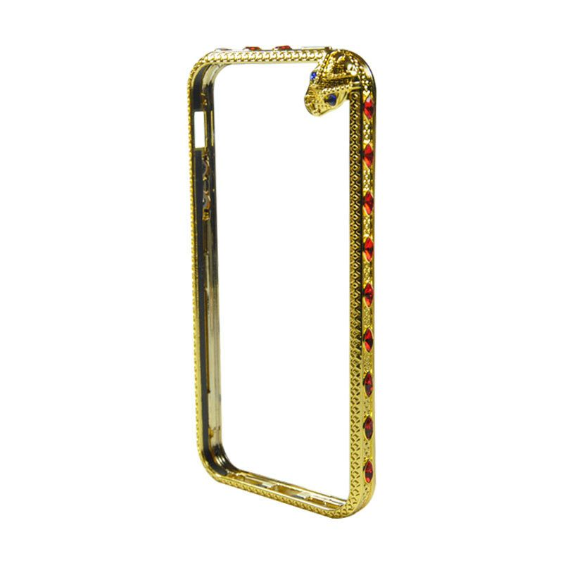 Fashion Snake Metal Bumper with TPU Protection for iPhone 5/5s Gold
