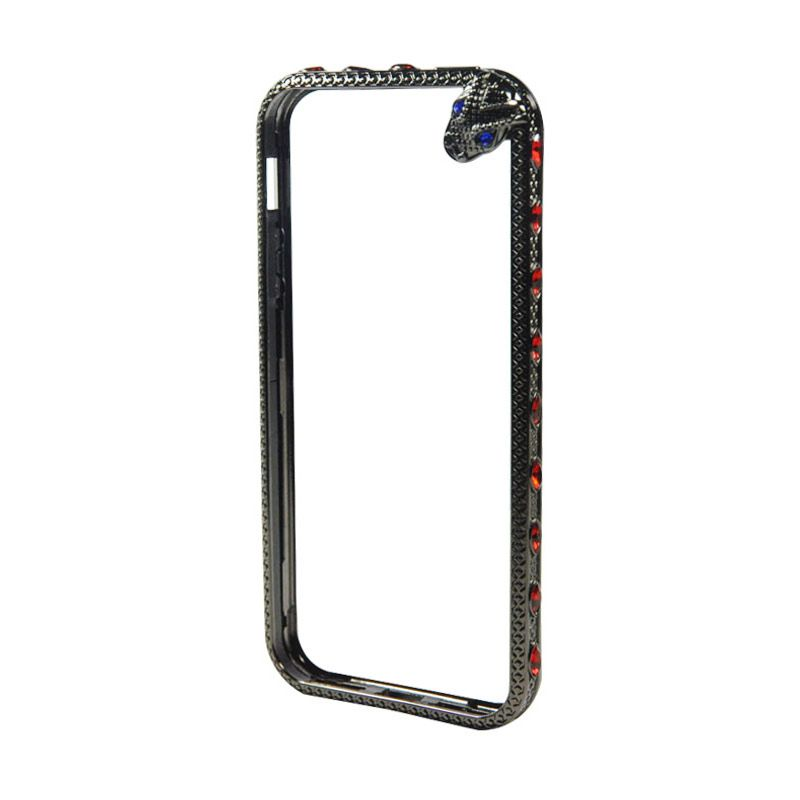 Fashion Snake Metal bumper with TPU Protection for iPhone 5/5s Hitam