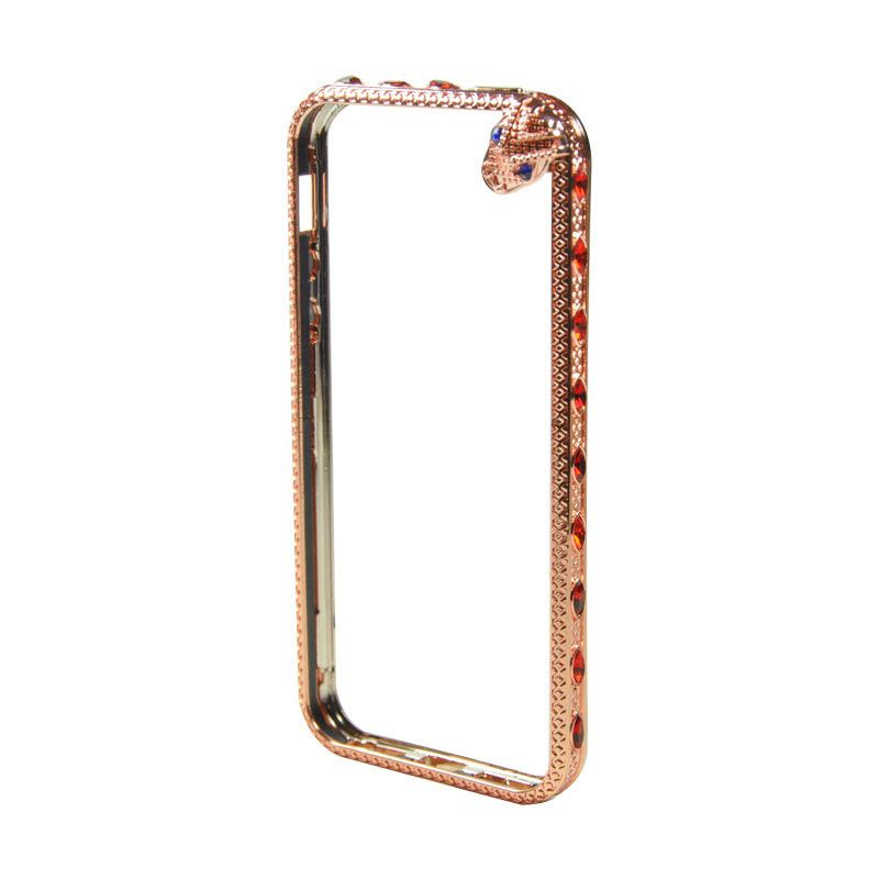 Fashion Snake Metal bumper with TPU protection for iPhone 5/5s Rose Gold