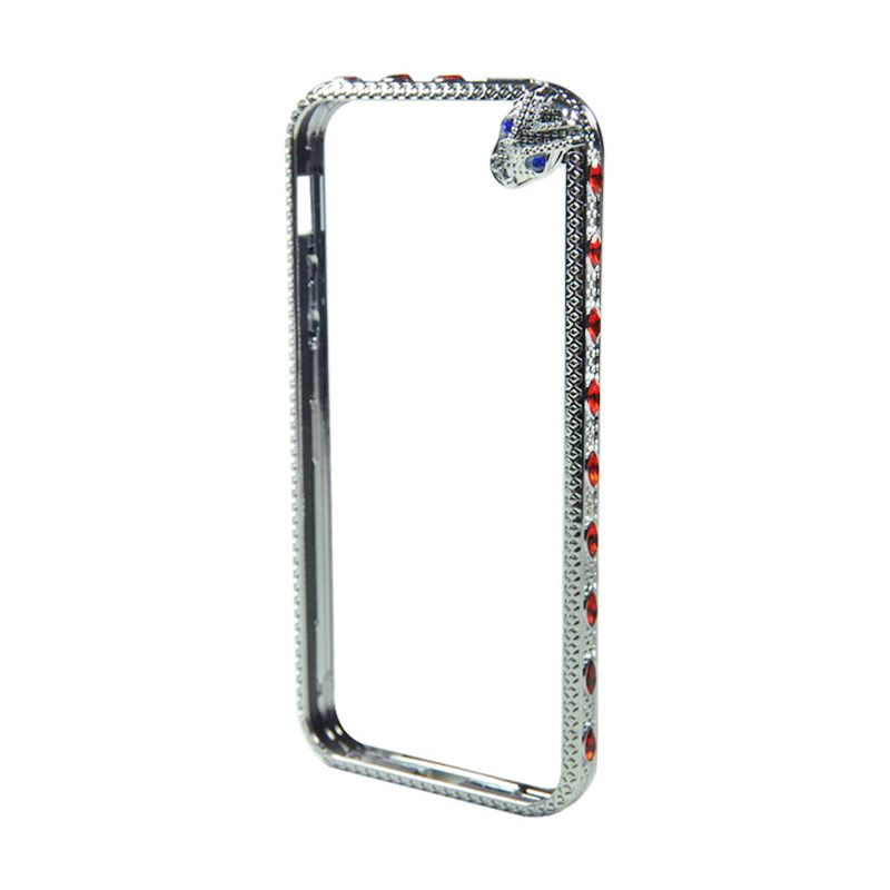 Fashion Snake Metal Bumper with TPU Protection for iPhone 5/5s Silver