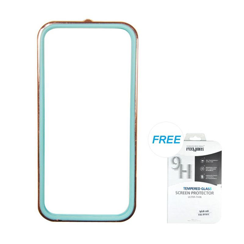 Fashion Sunyart Metal Bumper with TPU protection Rose Gold Blue iPhone 5/5S Casing