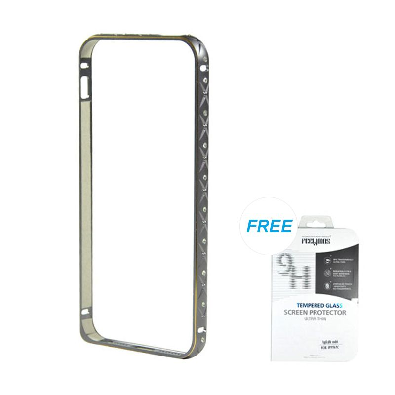 Fashion Ultrathin Diamond Bumper Protection Grey iPhone 5/5S Casing