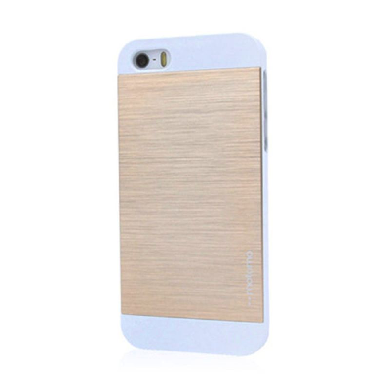Motomo Ino Metal Case for iPhone 5 5S Gold White