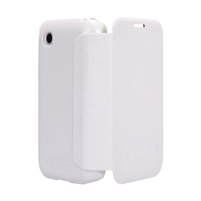 Nillkin LG L40 Sparkle Leather Flip Case Putih