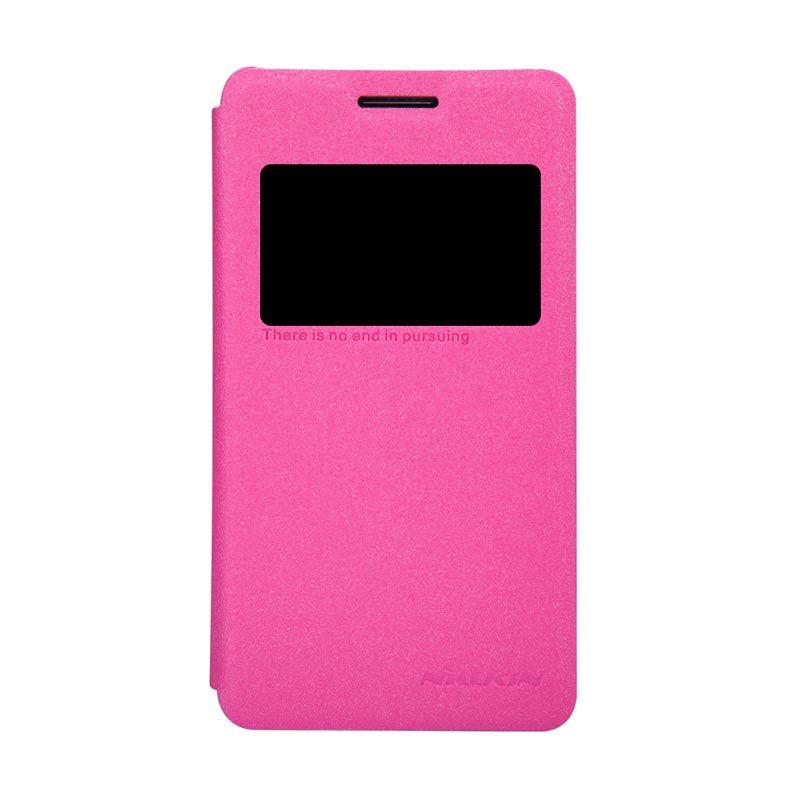Nillkin Sparkle Leather Flip Case Sony Xperia E1 Merah