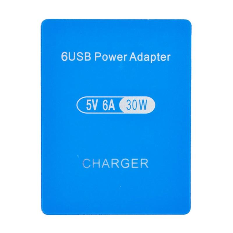 Smart High Speed 6 Port Blue USB Charger