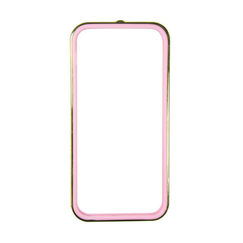 Sunyart Metal Bumper with TPU Protection for iPhone 5/5S Gold Pink