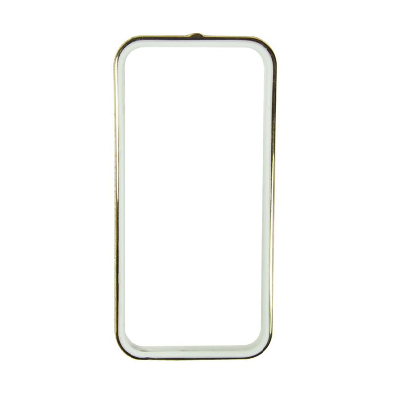 Sunyart Metal Bumper with TPU Protection for iPhone 5/5S Gold White