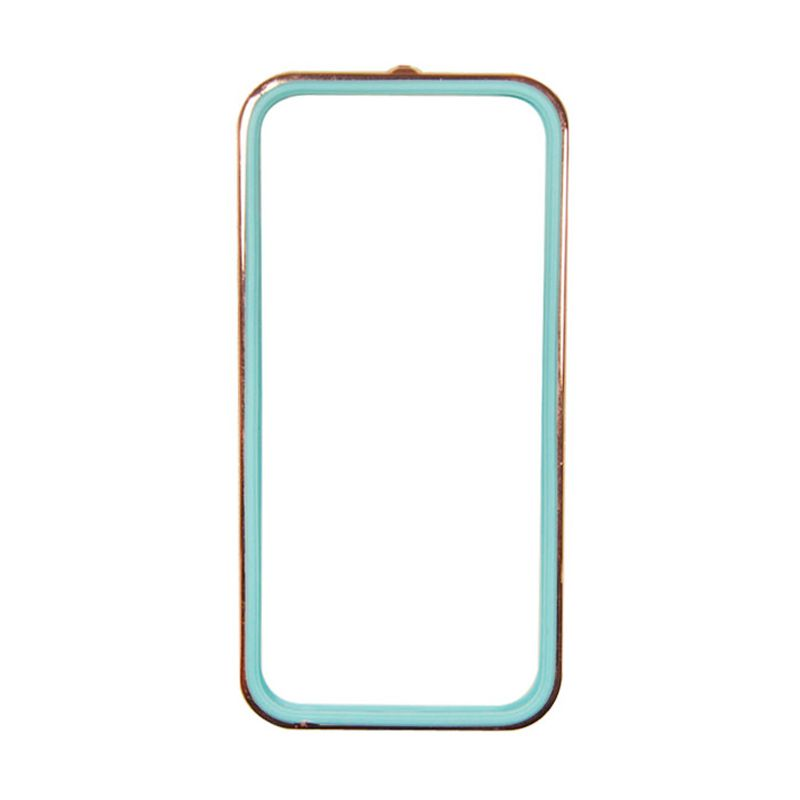 Sunyart Metal Bumper with TPU Protection for iPhone 5S Rose Gold Blue