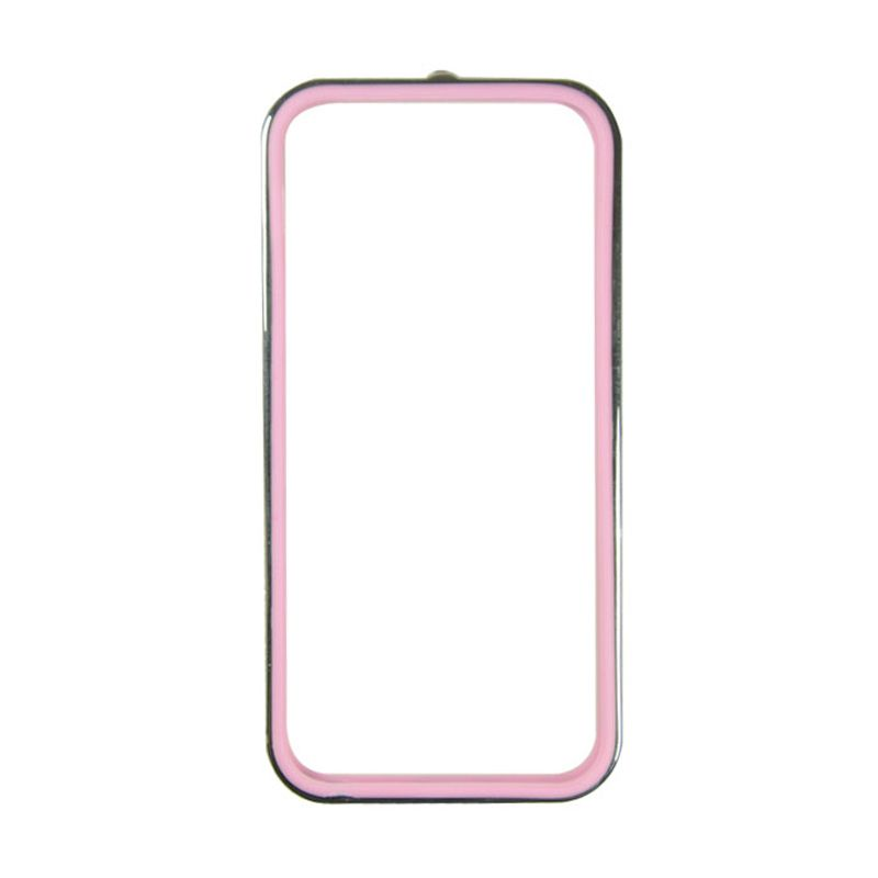 Sunyart Metal Bumper with TPU Protection for iPhone 5/5S Silver Pink