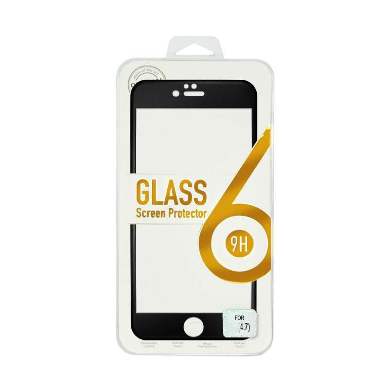 Titanium Alloy Tempered Glass Black Screen Protector for iPhone 6