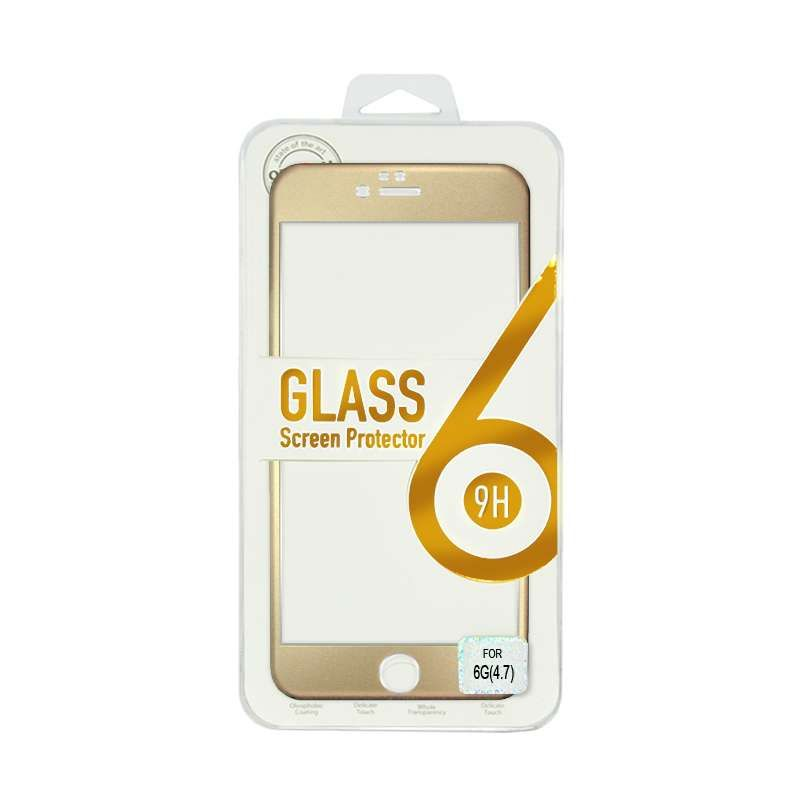 Titanium Alloy Tempered Glass Gold Screen Protector for iPhone 6