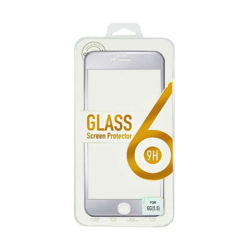 Titanium Alloy Tempered Glass Silver Screen Protector for iPhone 6 Plus