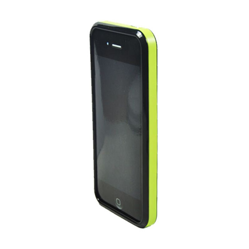 Tryit Hybrid Slim Fit Case for iPhone 5/5s Lime Hitam
