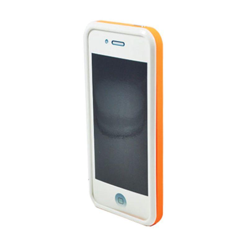 Tryit Hybrid Slim Fit Case for iPhone 5/5s Orange Putih