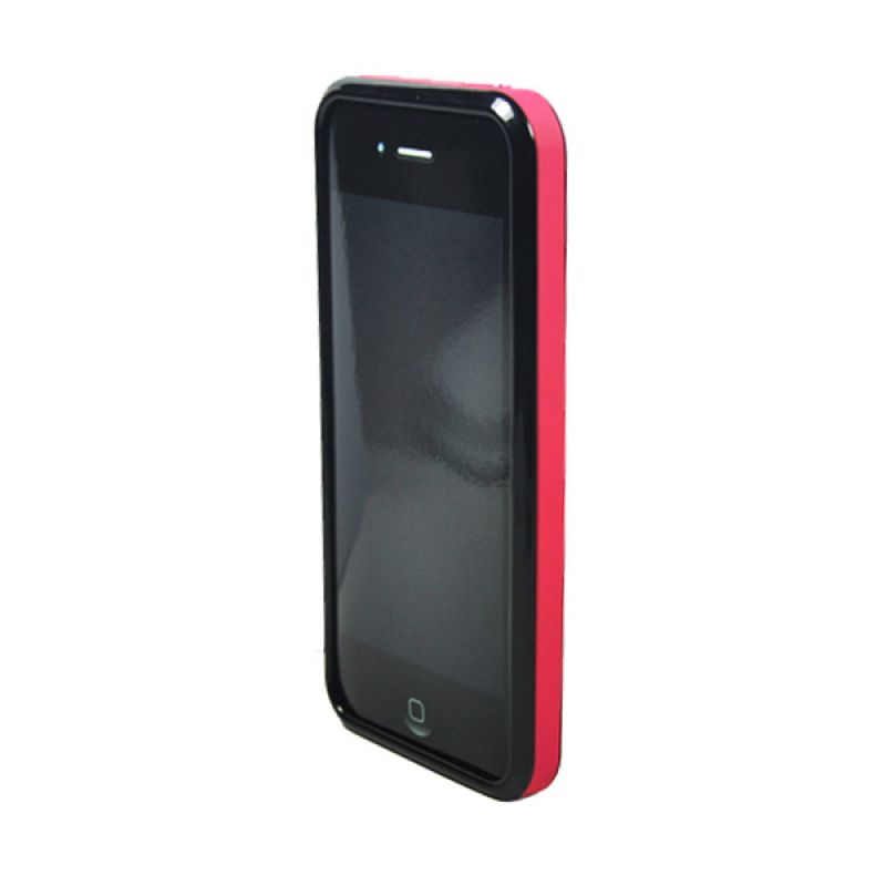 Tryit Hybrid Slim Fit Case for iPhone 5/5s Pink Hitam