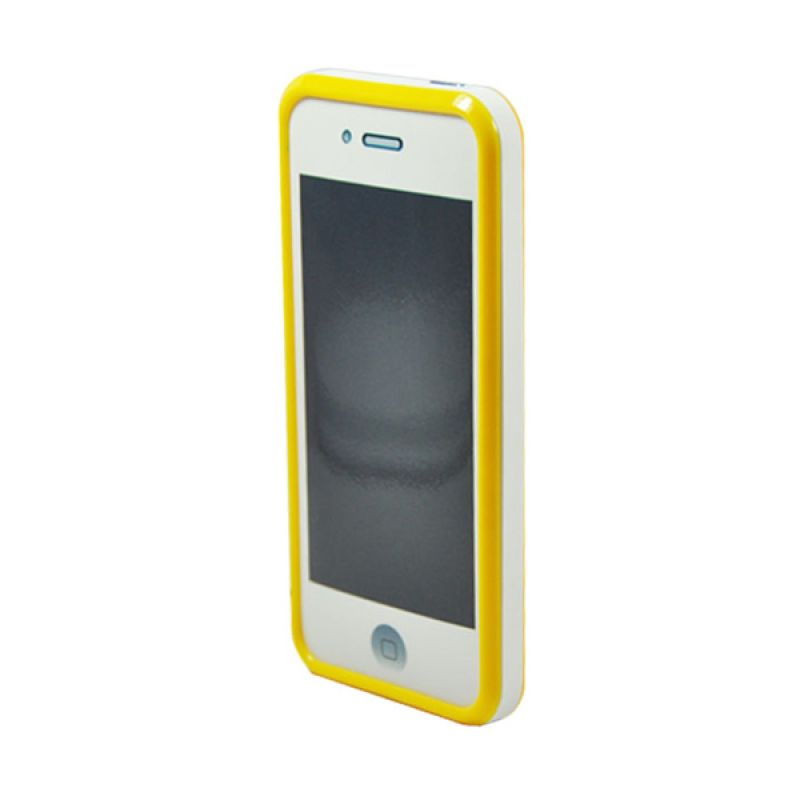 Tryit Hybrid Slim Fit Case for iPhone 5/5s Putih Kuning