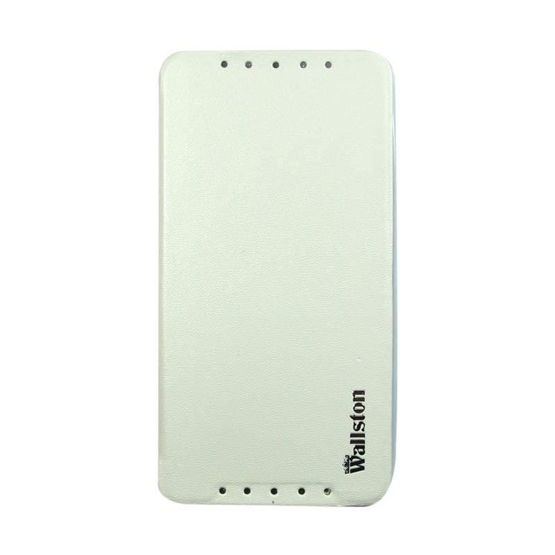 Wallston Leather Case for Smartfren Andromax U2 White