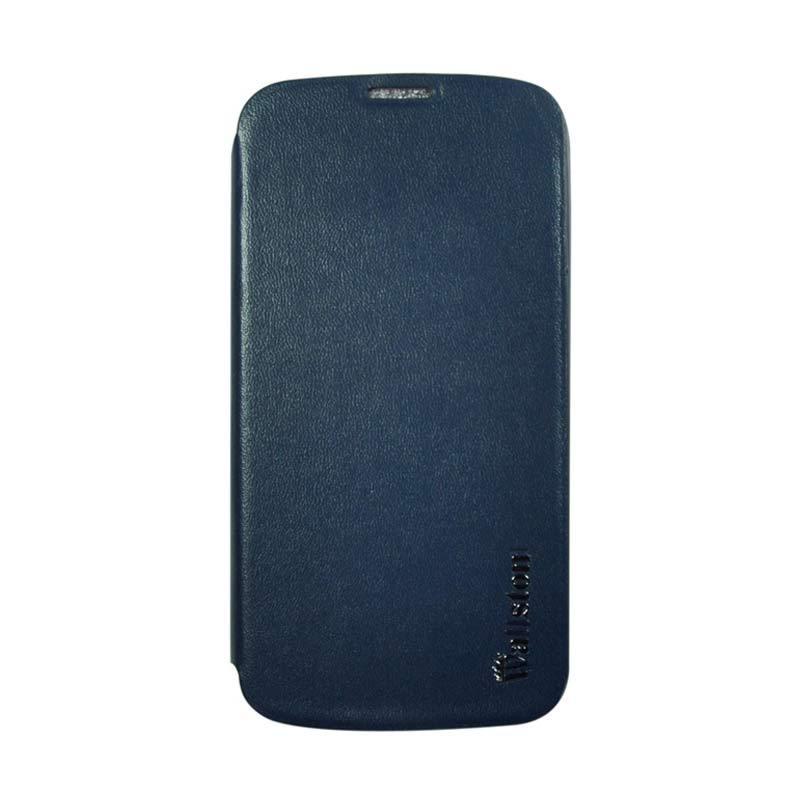 Wallston Leather Case for Smartfren Andromax T Blue