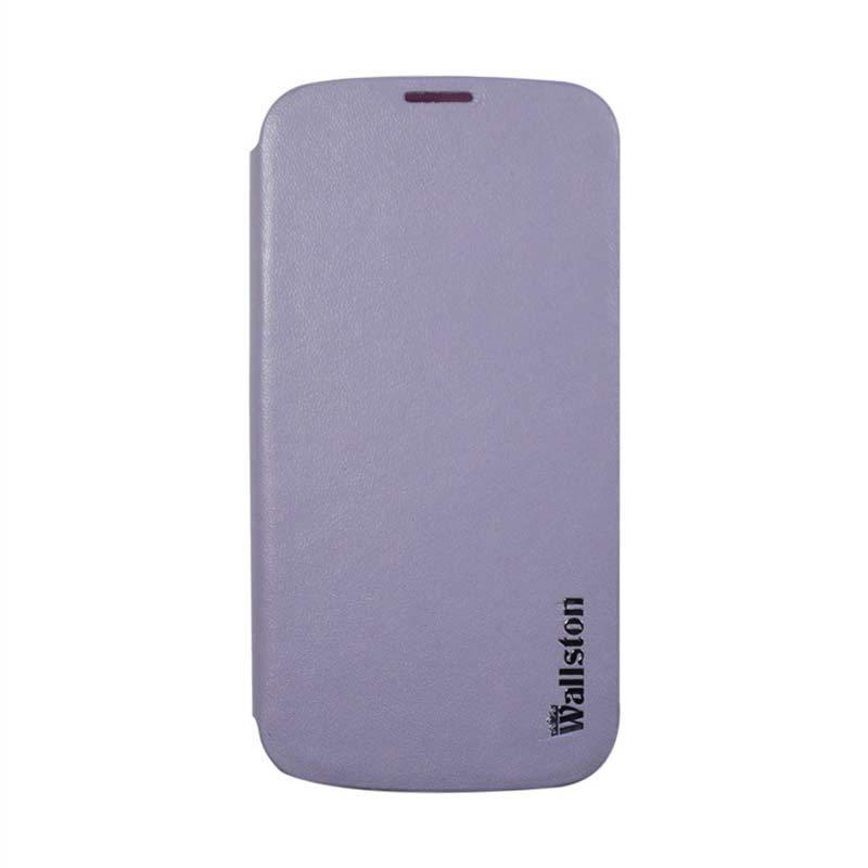 Wallston Leather Case for Smartfren Andromax T Purple