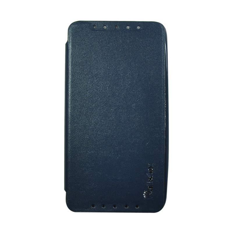 Wallston Leather Case for Smartfren Andromax U2 Blue