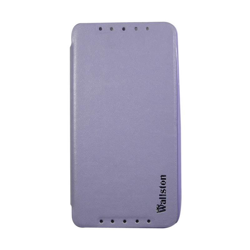 Wallston Leather Case for Smartfren Andromax U2 Purple