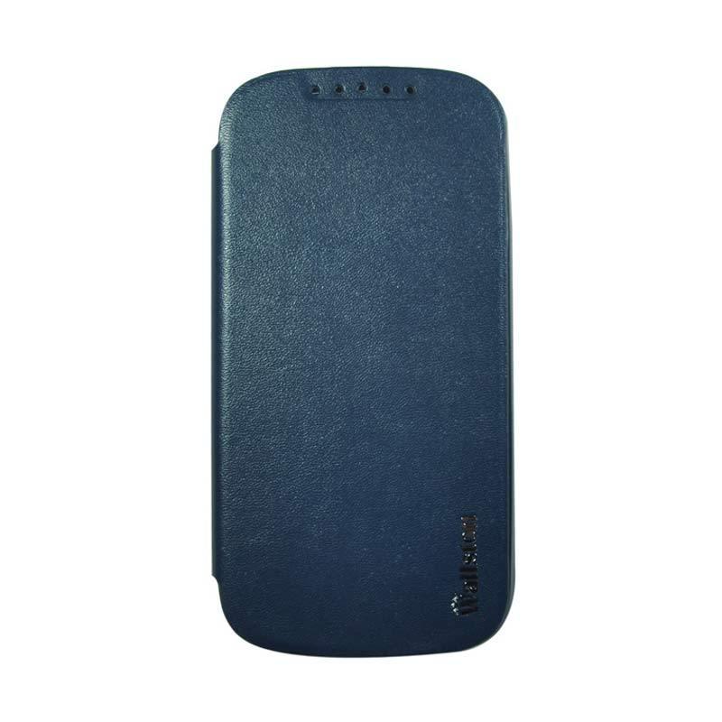 Wallston Leather Case for Smartfren Andromax V Blue