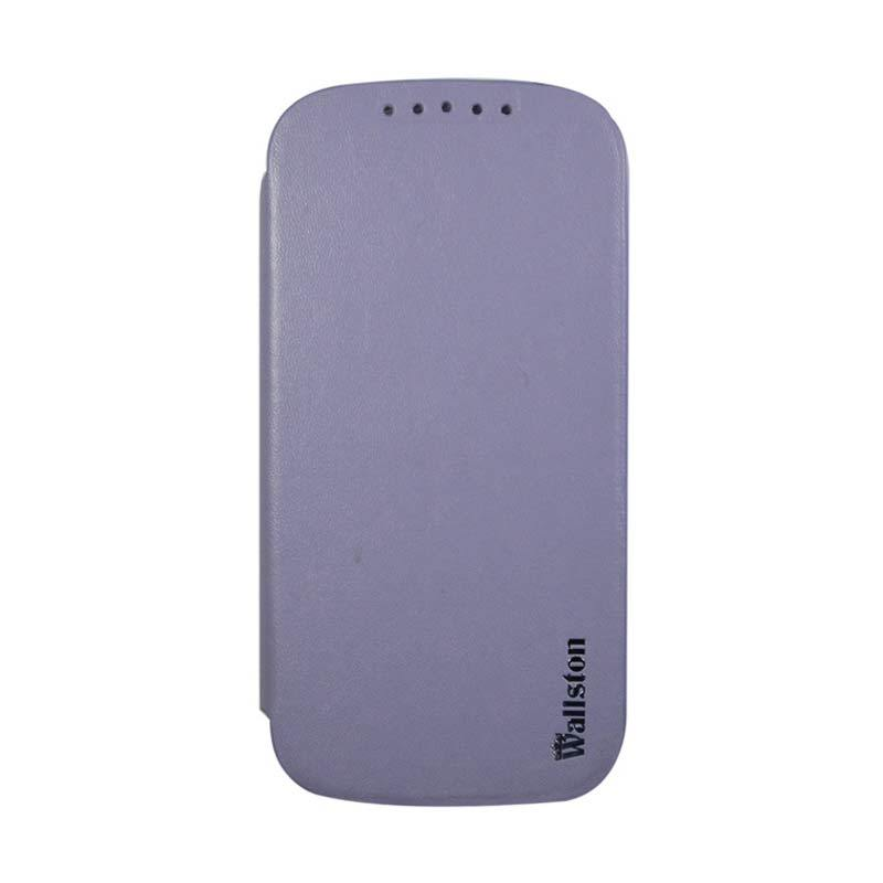 Wallston Leather Case for Smartfren Andromax V Purple