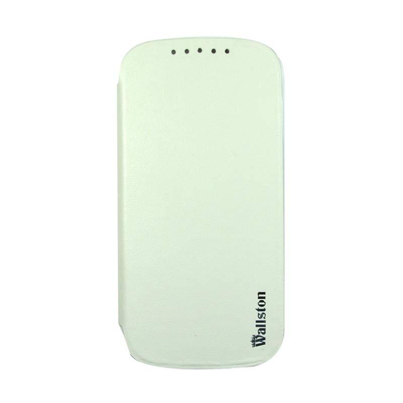 Wallston Leather Case for Smartfren Andromax V White