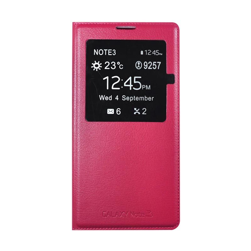 Wallston S-VIEW LC for Samsung Galaxy Note 3 with Auto Sleep Function Rose