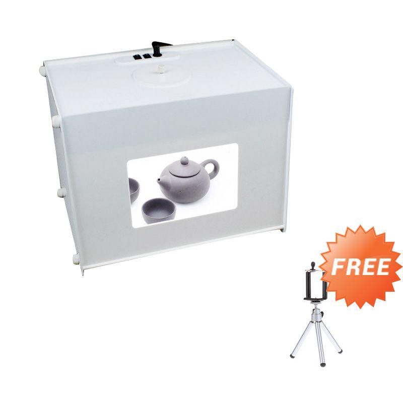 uNiQue Portable Mini Studio Photo Box Kit + Mini Tripod for Smartphone and Camera