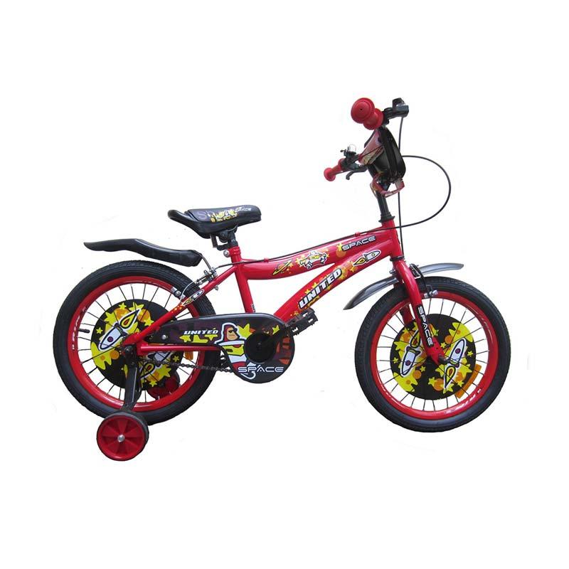 Jual United Space Sepeda Anak - Merah [18 Inch] Online