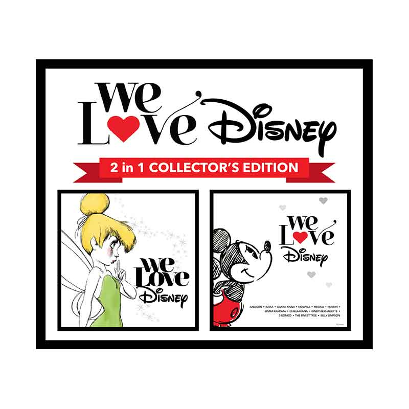 Universal Music Indonesia Various Artist We Love Disney 2 in 1 Collector's Edition CD