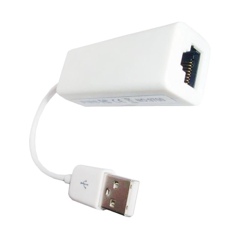 Universal Conektor USB 2.0 To LAN – Putih [Mac Osx]
