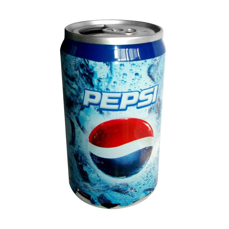 Universal Kaleng Soft drink Pepsi Speaker Portable - Biru