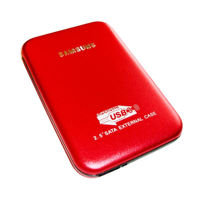Universal Model Samsung F2 External Case - Merah [2.5 Inch/SATA/USB 3.0]