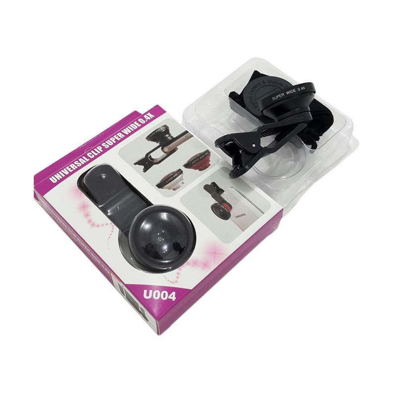 Universal Model U004 Lensa Super Wide 0.4x Clip Jepit - Biru