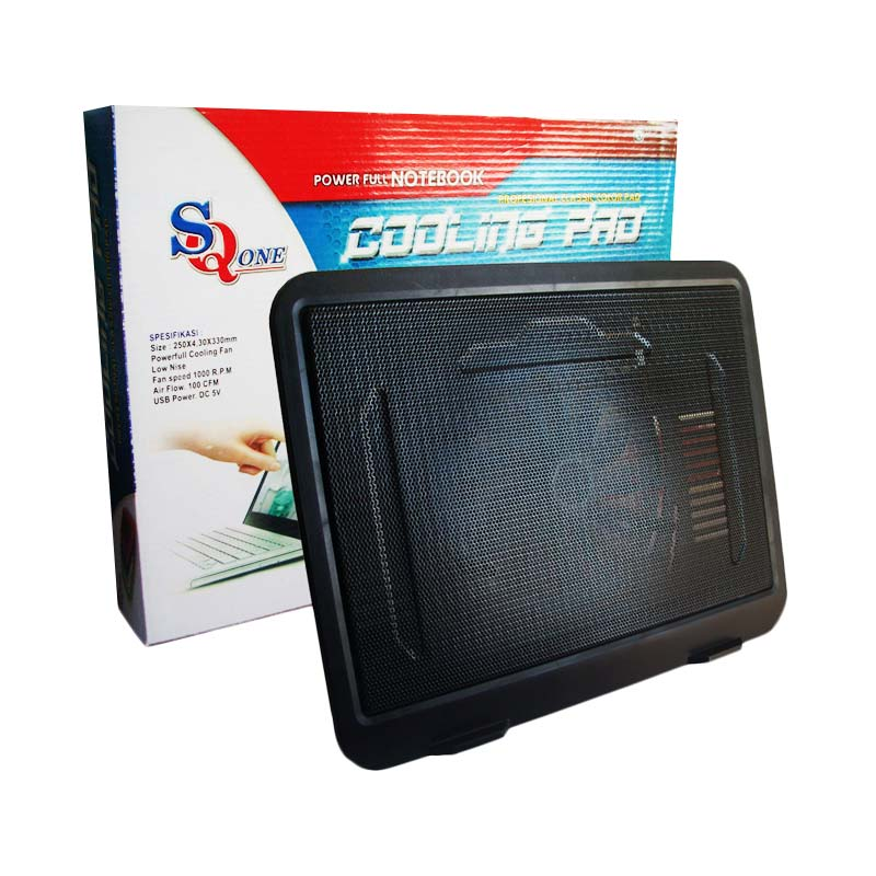 Rp 75,000. Rp 50,000 ( 33 %). Stok Habis. Deskripsi. Universal SQ One N19 Single Fan Notebook Cooling Pad - Hitam
